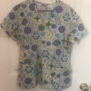 Floral Scrub Top